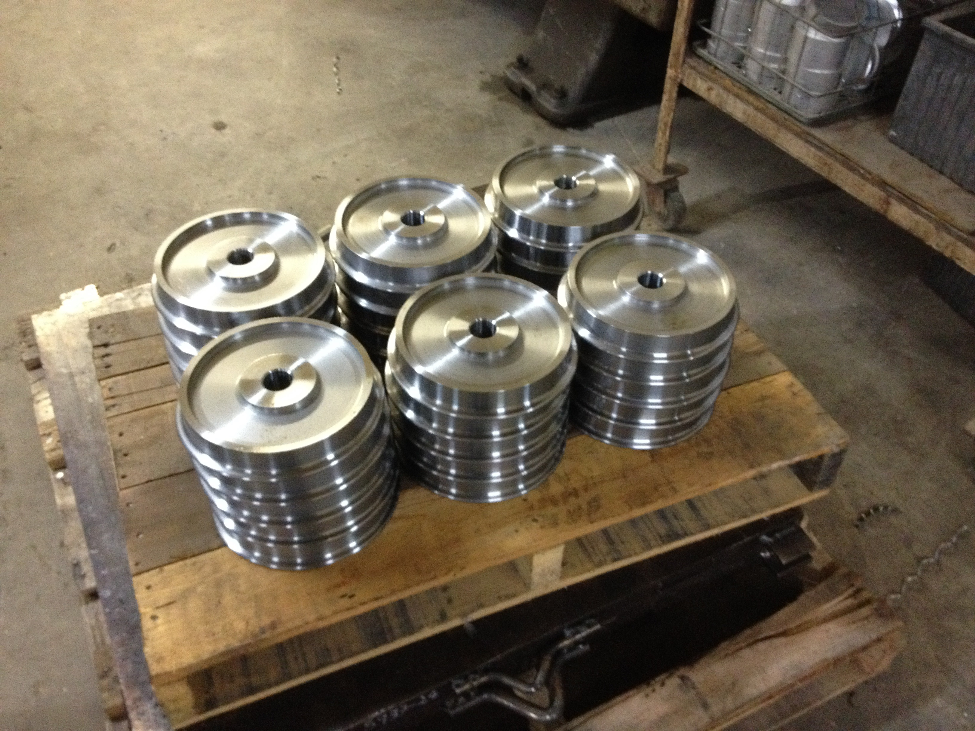"32 of our 8.25"" wheels on the pallet ready for delivery!"